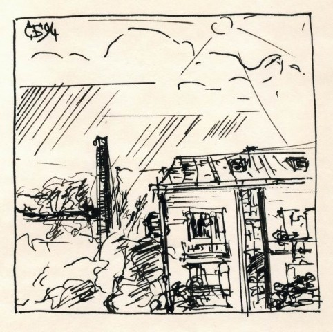 Солнце и крыши