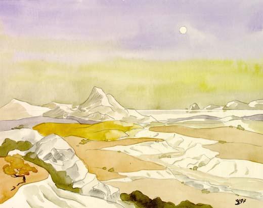 пейзаж в лунном свете, 1997 год