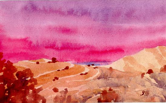 лиловый закат