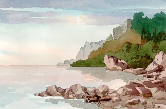 берег моря в Дюльбере
