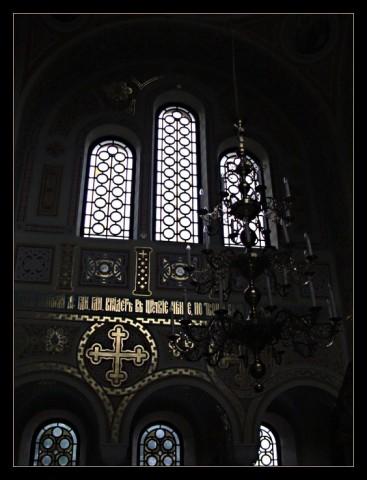 Интерьер церкви на Байдарских воротах